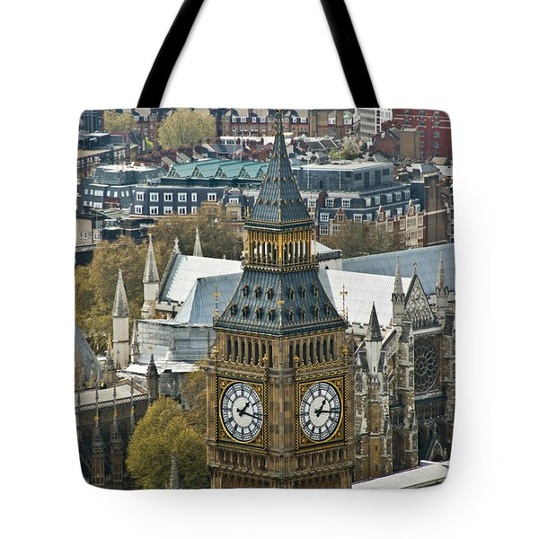 Big Ben Up Close And Personal Tote Bag by Douglas Barnett