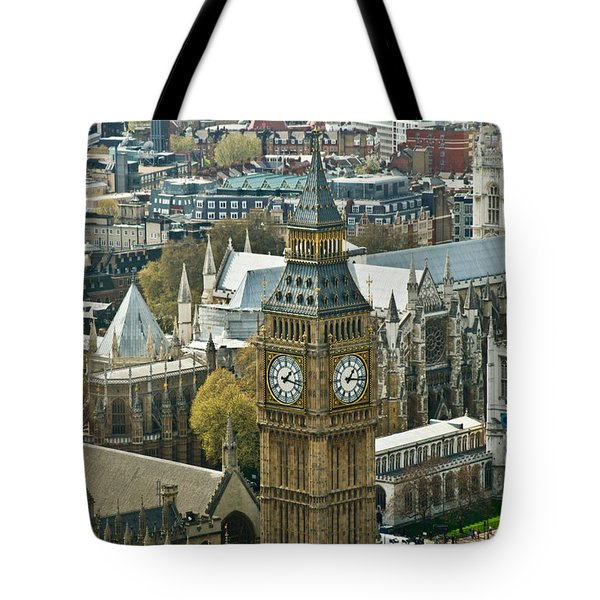 Big Ben Up Close Tote Bag by Douglas Barnett