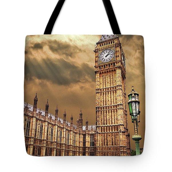 big ben's house Tote Bag by Meirion Matthias