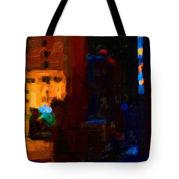 Big City Abstract Tote Bag by Wingsdomain Art and Photography