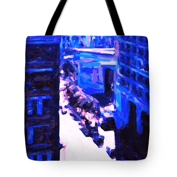 Big City Blues 2 Tote Bag by Wingsdomain Art and Photography