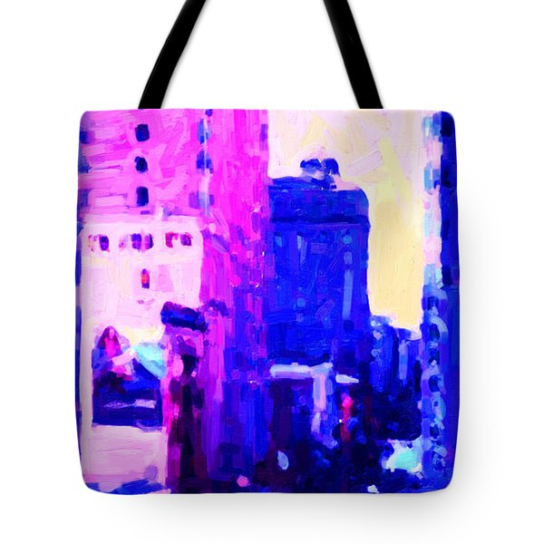 Big City Blues Tote Bag by Wingsdomain Art and Photography