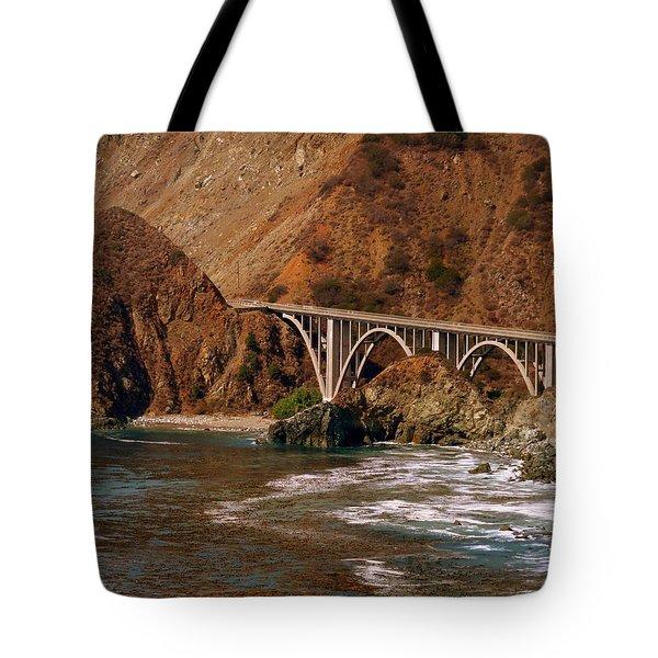 Big Creek Bridge Close Tote Bag by Jeff Lowe