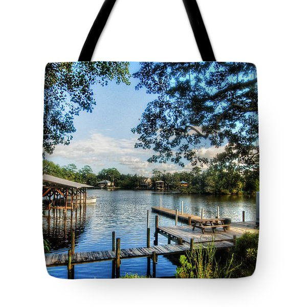 Big Daddys Harbor Tote Bag by Michael Thomas