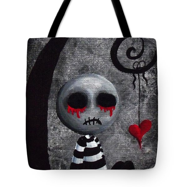 Big Juicy Tears Of Blood And Pain 2 Tote Bag by Oddball Art Co by Lizzy Love