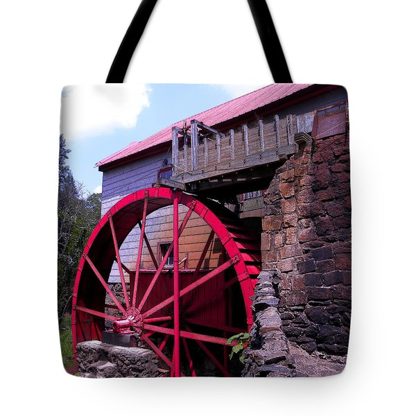 Big Red Wheel Tote Bag by Sandi OReilly