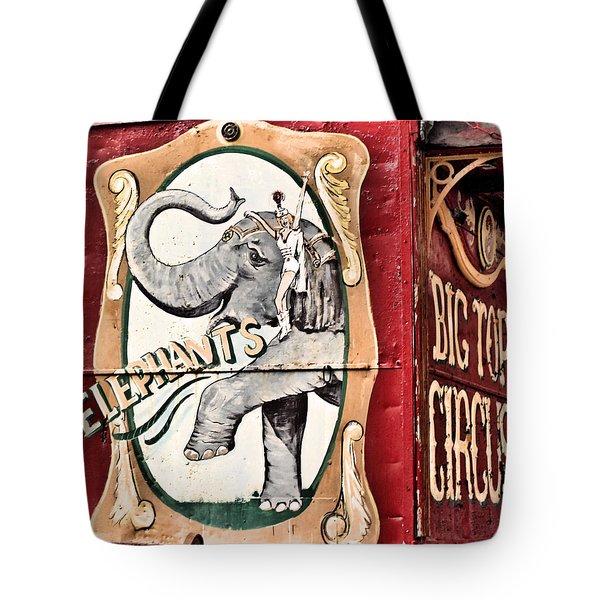Big Top Elephants Tote Bag by Kristin Elmquist