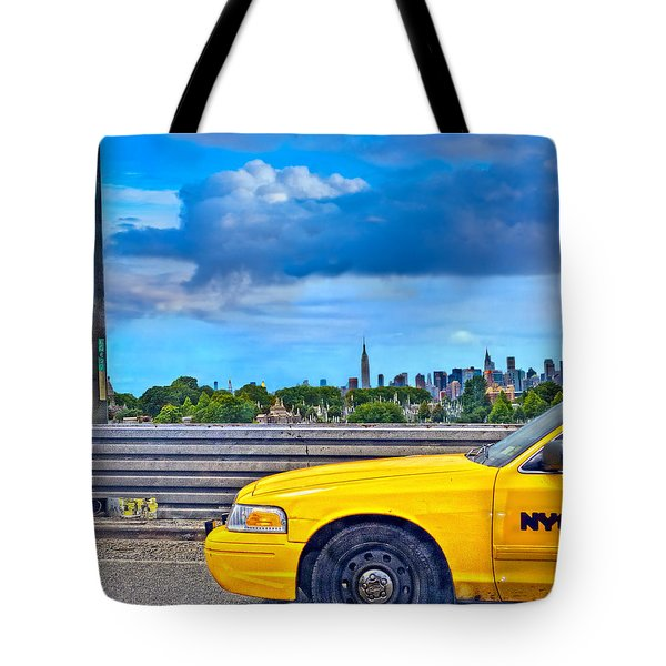Big Yellow Taxi Tote Bag by Marianne Campolongo