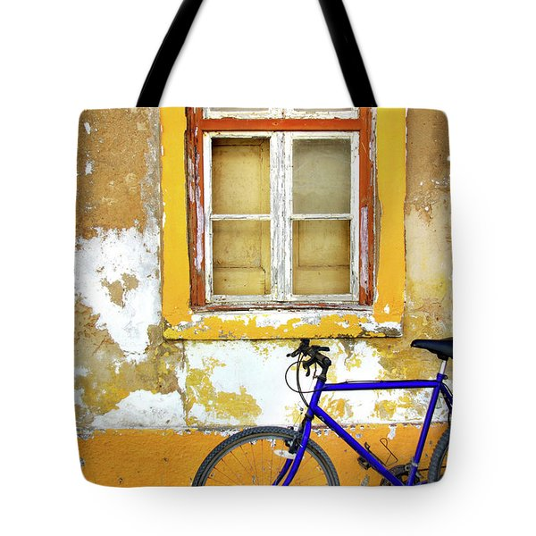 Bike Window Tote Bag by Carlos Caetano