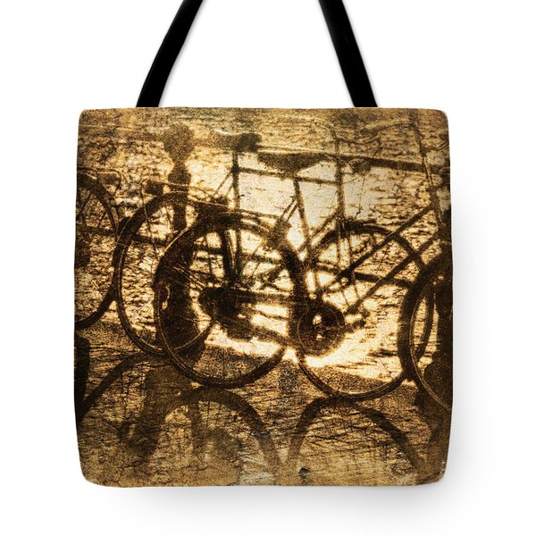 Bikes On The Canal Tote Bag by Skip Nall