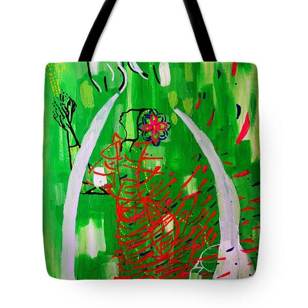 Bikira Maria - Rosa Mystica Tote Bag by Gloria Ssali