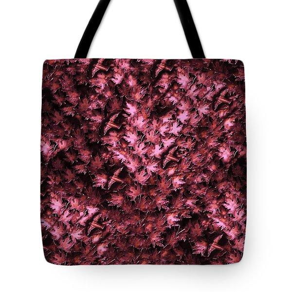 Birds In Redviolet Tote Bag by David Dehner