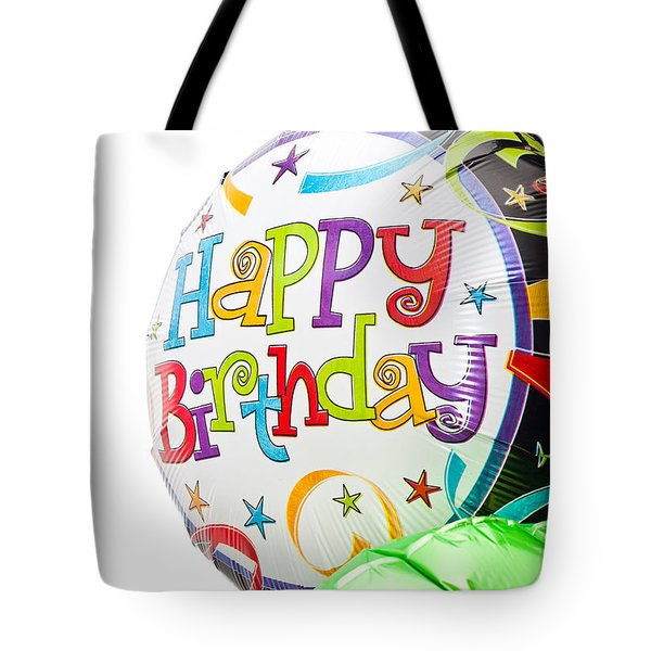 Birthday Balloons Tote Bag by Tom Gowanlock
