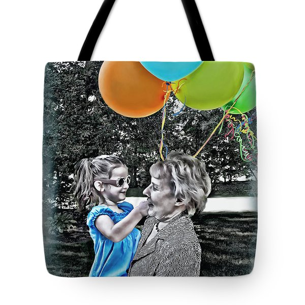 Birthdays Tote Bag by Joan  Minchak