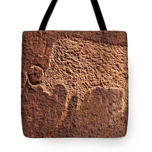Bison Hunt Tote Bag by David Lee Thompson