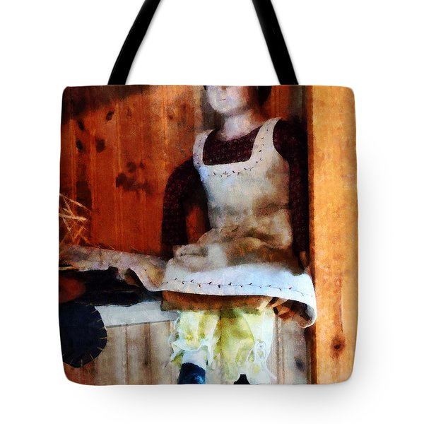 Bisque Doll Tote Bag by Susan Savad