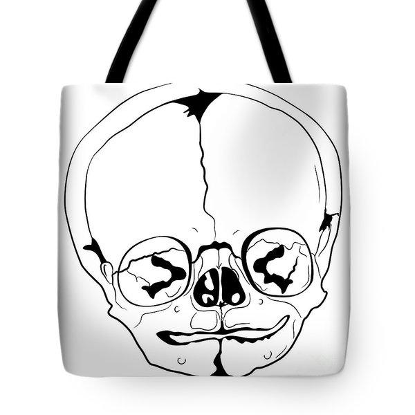 Bizarre Skull Tote Bag by Michal Boubin