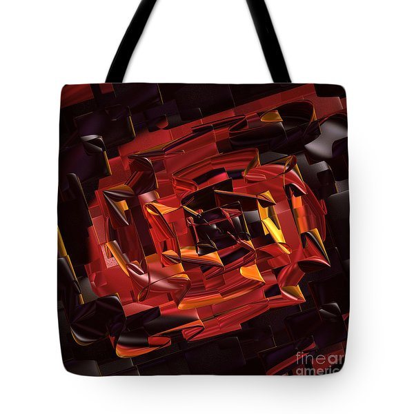 Black and Red Tote Bag by Deborah Benoit