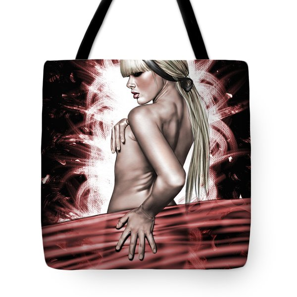 Black And Red Tote Bag by Pete Tapang