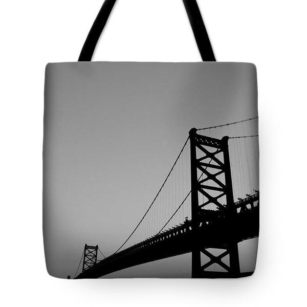 Black And White Bridge Tote Bag by Bill Cannon