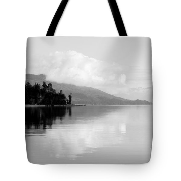 Black And White Island Near Hoonah Tote Bag by Darcy Michaelchuk
