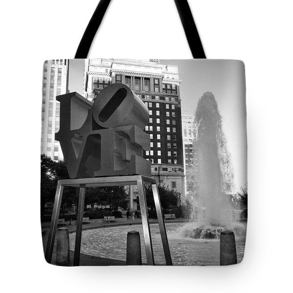 Black And White Love Tote Bag by Bill Cannon