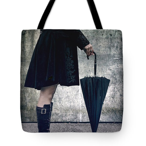 black umbrellla Tote Bag by Joana Kruse