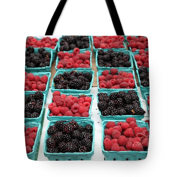 Blackberries and Rasberries - 5D17827 Tote Bag by Wingsdomain Art and Photography