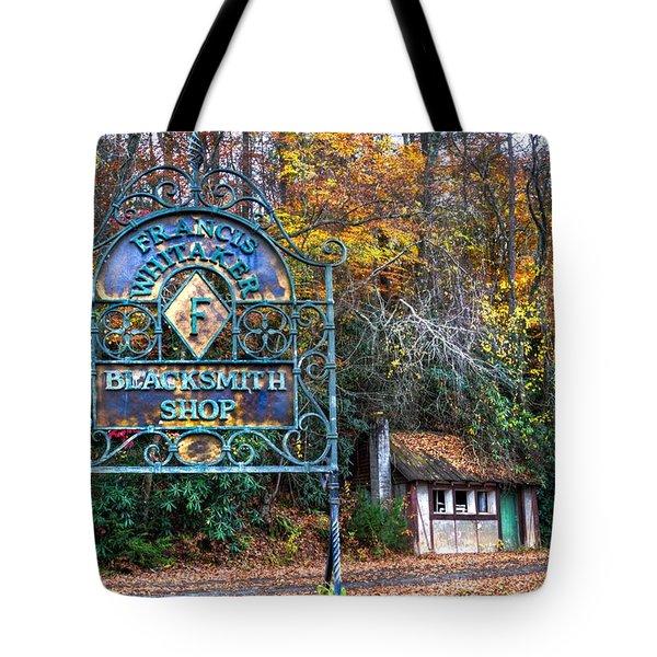 Blacksmith Shop Tote Bag by Debra and Dave Vanderlaan