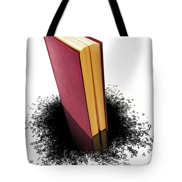 Bleading Book Tote Bag by Carlos Caetano