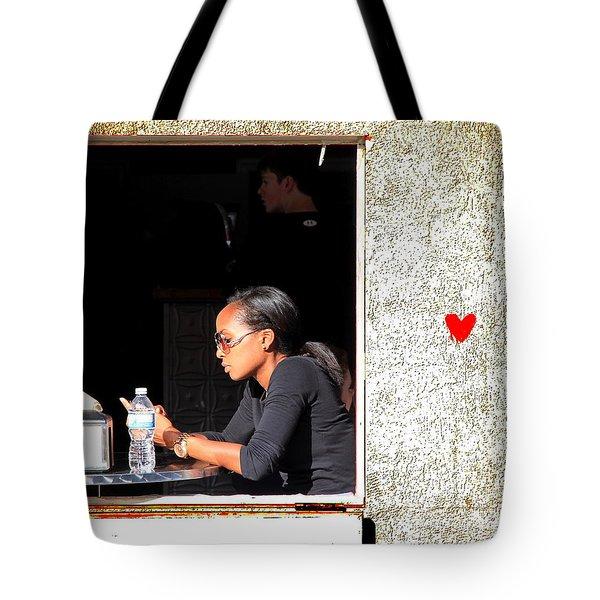 Bleeding Heart Tote Bag by Valentino Visentini