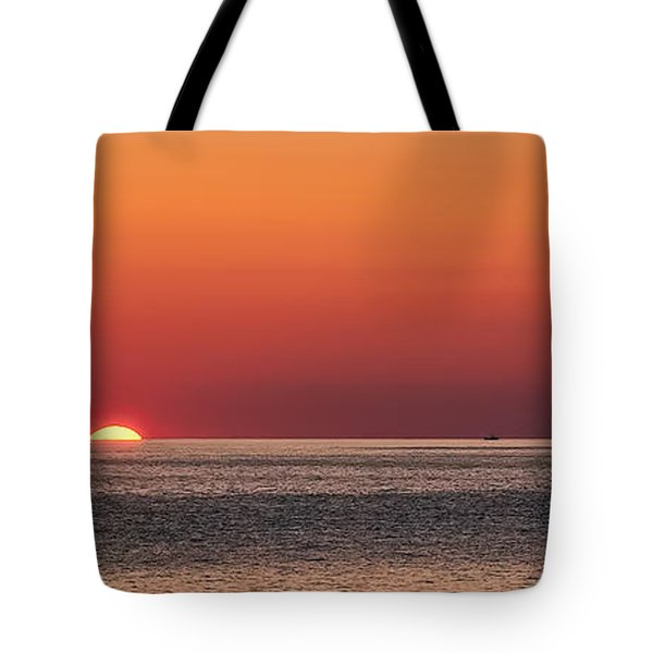Block Island Sunrise Tote Bag by William Jobes