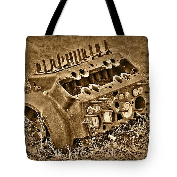Blocked Out Tote Bag by Shane Bechler