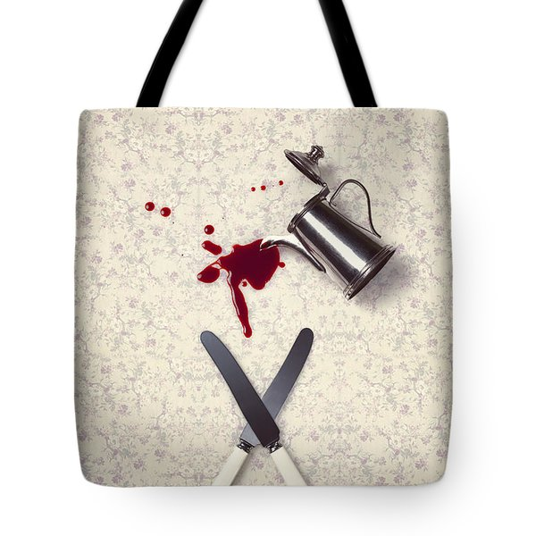 bloody dining table Tote Bag by Joana Kruse
