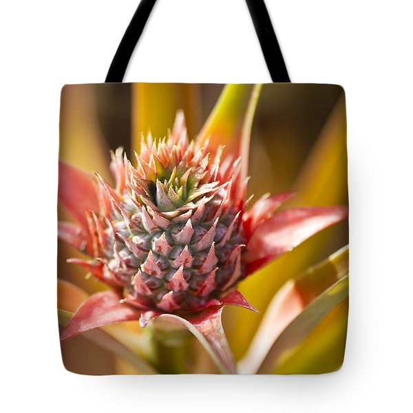 Blooming Pineapple II Tote Bag by Ron Dahlquist