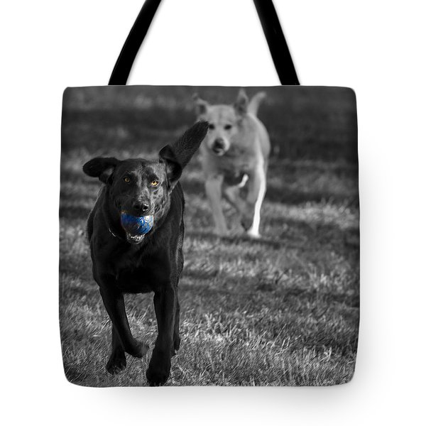 Blue Ball Tote Bag by Jean Noren