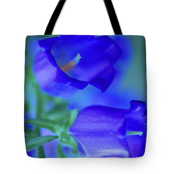 Blue Bell Flowers Tote Bag by Kathy Yates