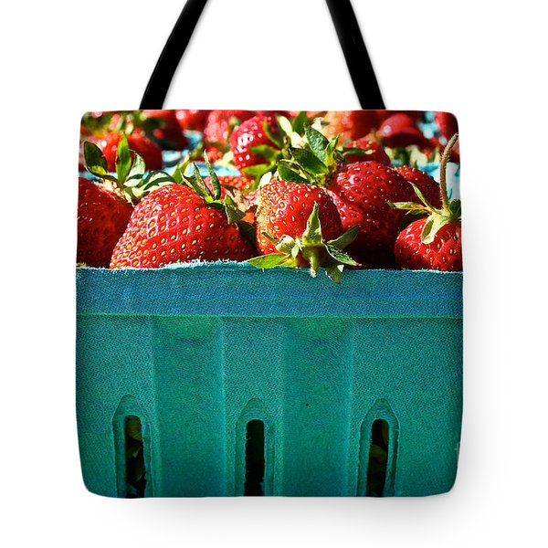Blue Box Tote Bag by Susan Herber