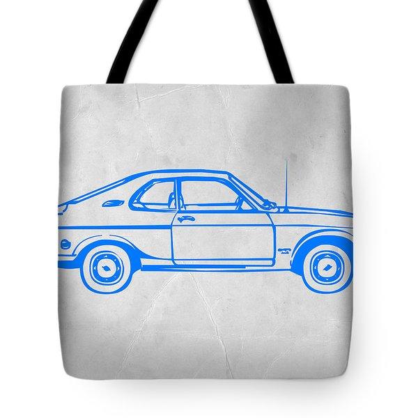 Blue Car Tote Bag by Naxart Studio