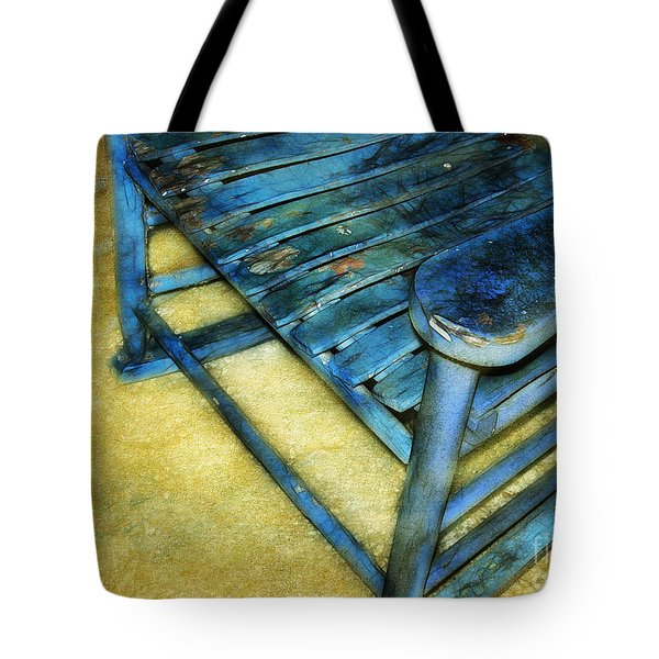 Blue Chair Tote Bag by Judi Bagwell