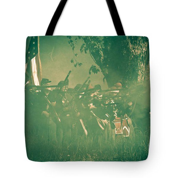 Blue Coats Fire Tote Bag by Kim Henderson
