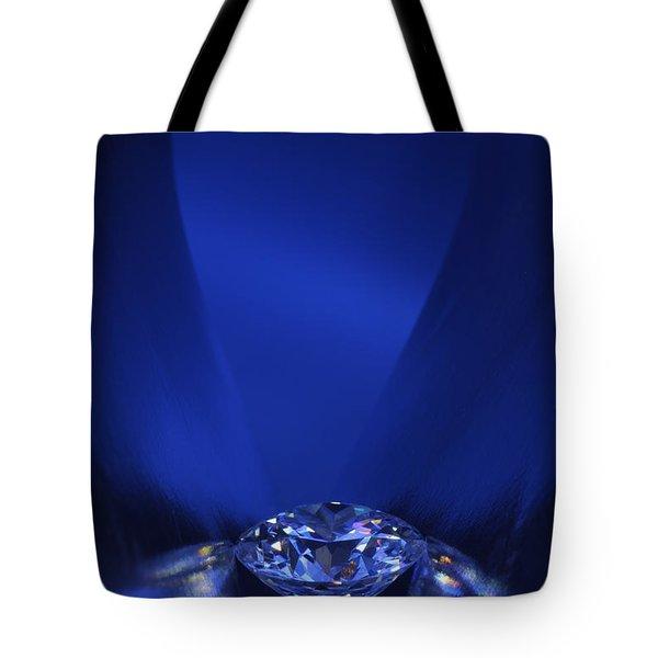 Blue Diamond In Blue Light Tote Bag by Atiketta Sangasaeng
