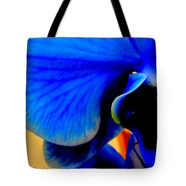 Blue Diamonds Orchids Tote Bag by Danielle  Parent