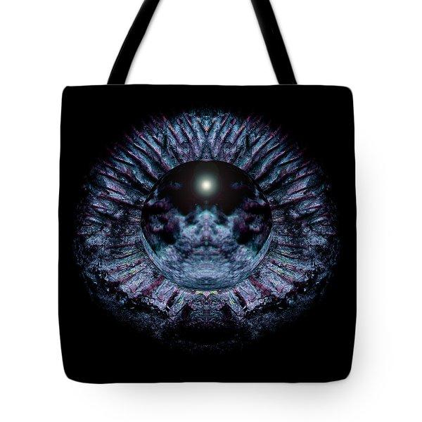 Blue Eye Sphere Tote Bag by David Kleinsasser