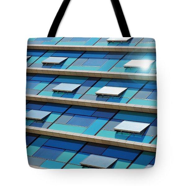 Blue Facade Tote Bag by Carlos Caetano