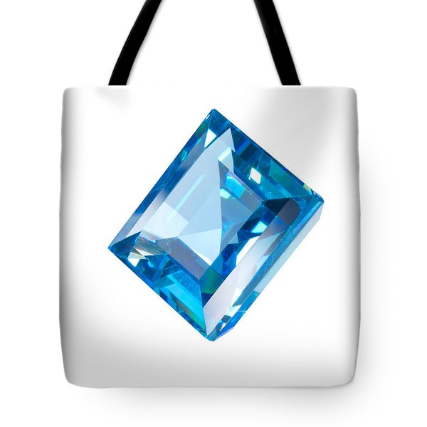 Blue Gem Isolated Tote Bag by Atiketta Sangasaeng