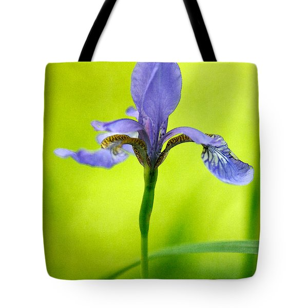 Blue Japanese Iris Tote Bag by Lois Bryan