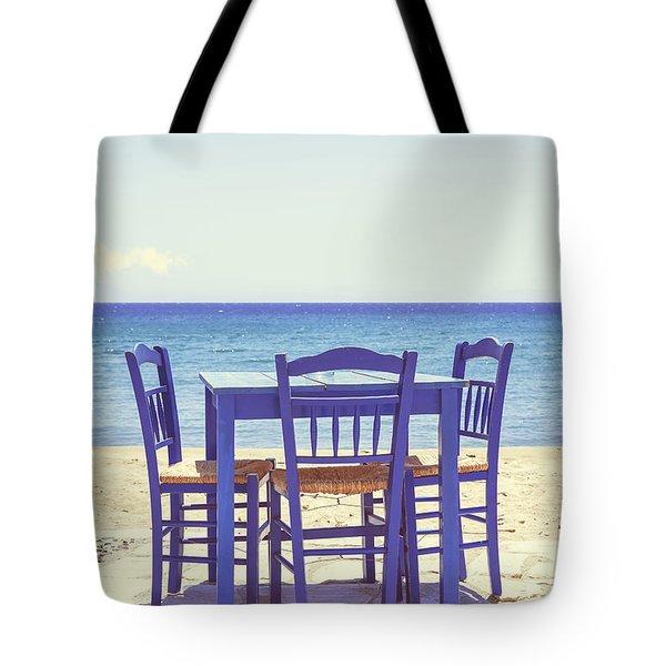 blue Tote Bag by Joana Kruse