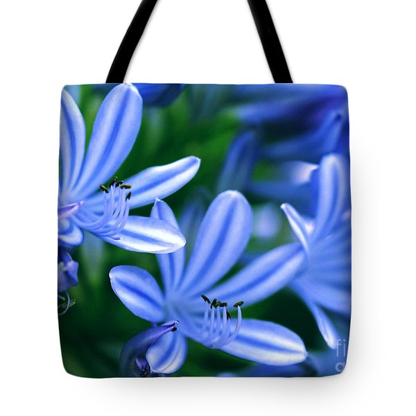 Blue Lily Of The Nile Tote Bag by Sabrina L Ryan