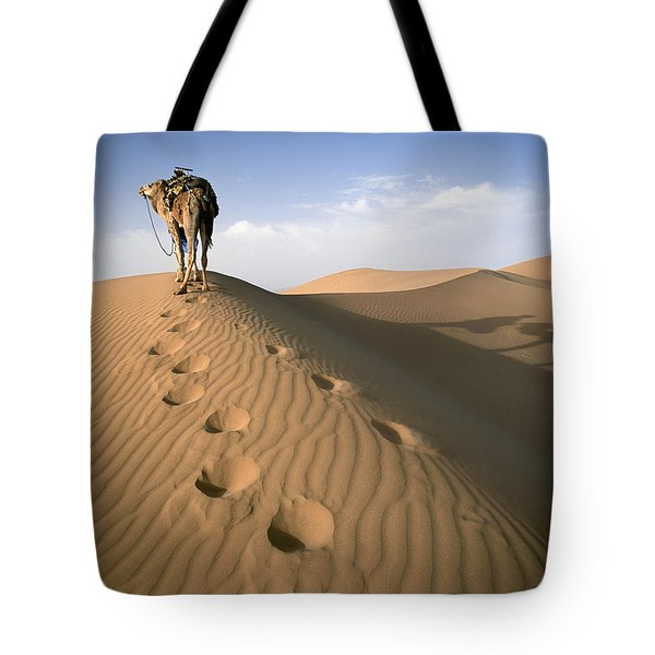 Blue Man Tribe Of Saharan Traders With Tote Bag by Axiom Photographic